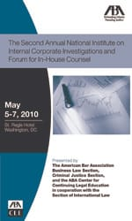 The Second Annual National Institute on Internal Corporate Investigations